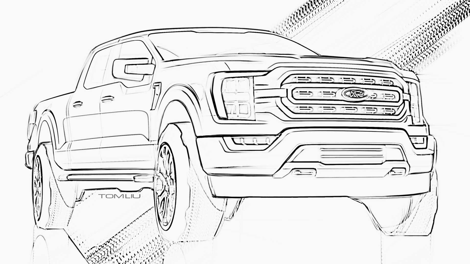 Ford F 150 And Bronco Coloring Pages