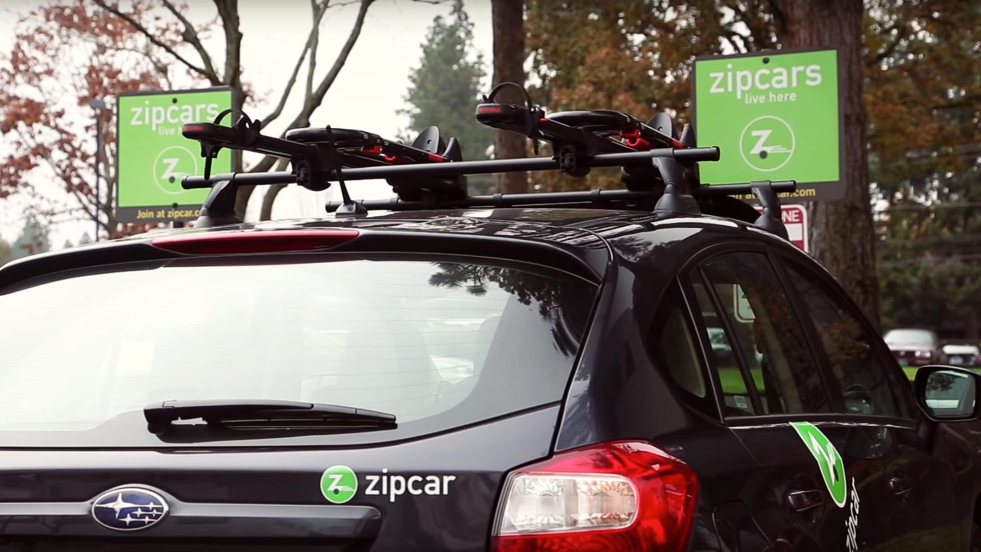 zipcar adds yakima roof racks for bikes
