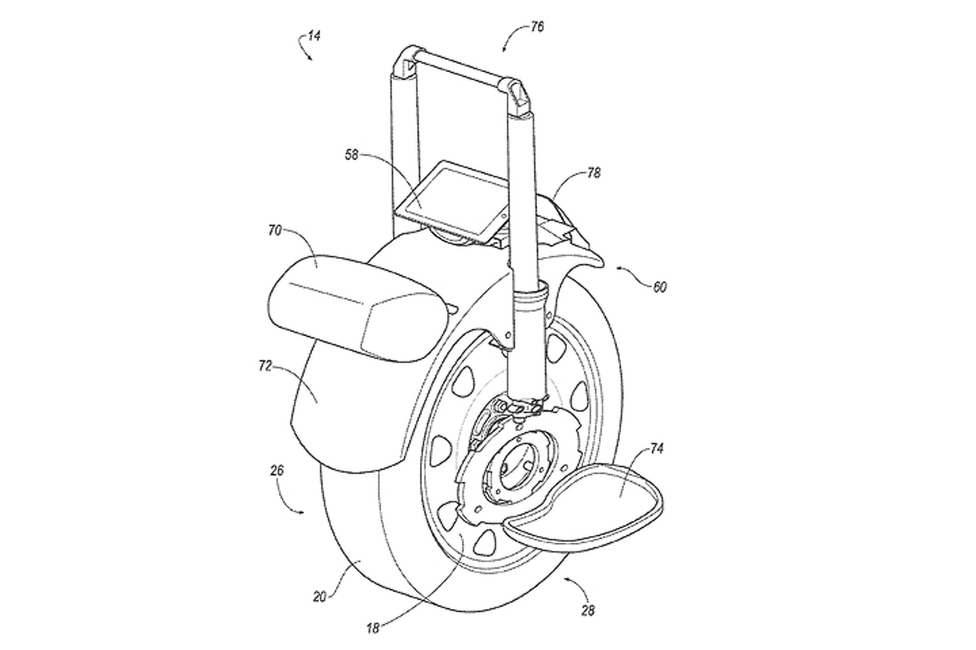 Ford Patent Could Turn A Car Wheel Into An Electric Unicycle