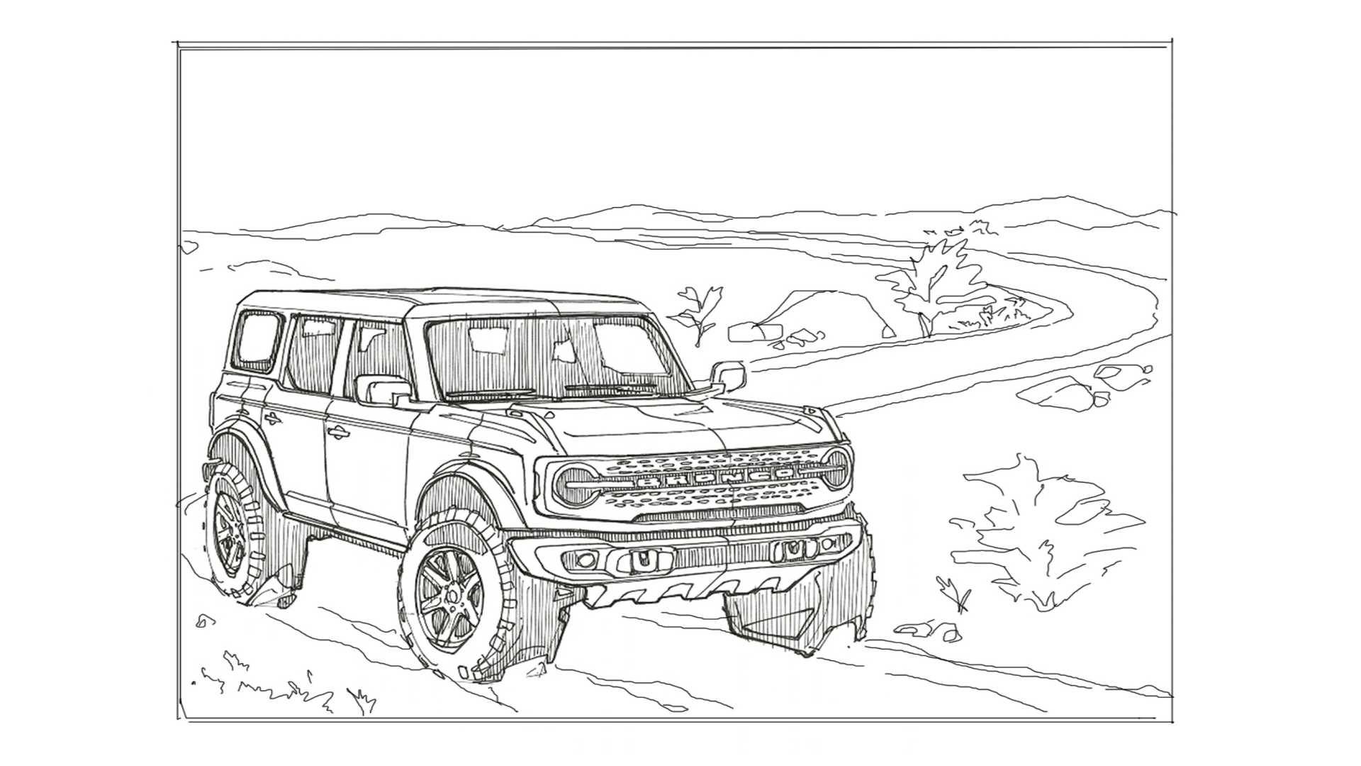 Blue Oval Releases Ford Bronco And F 150 Coloring