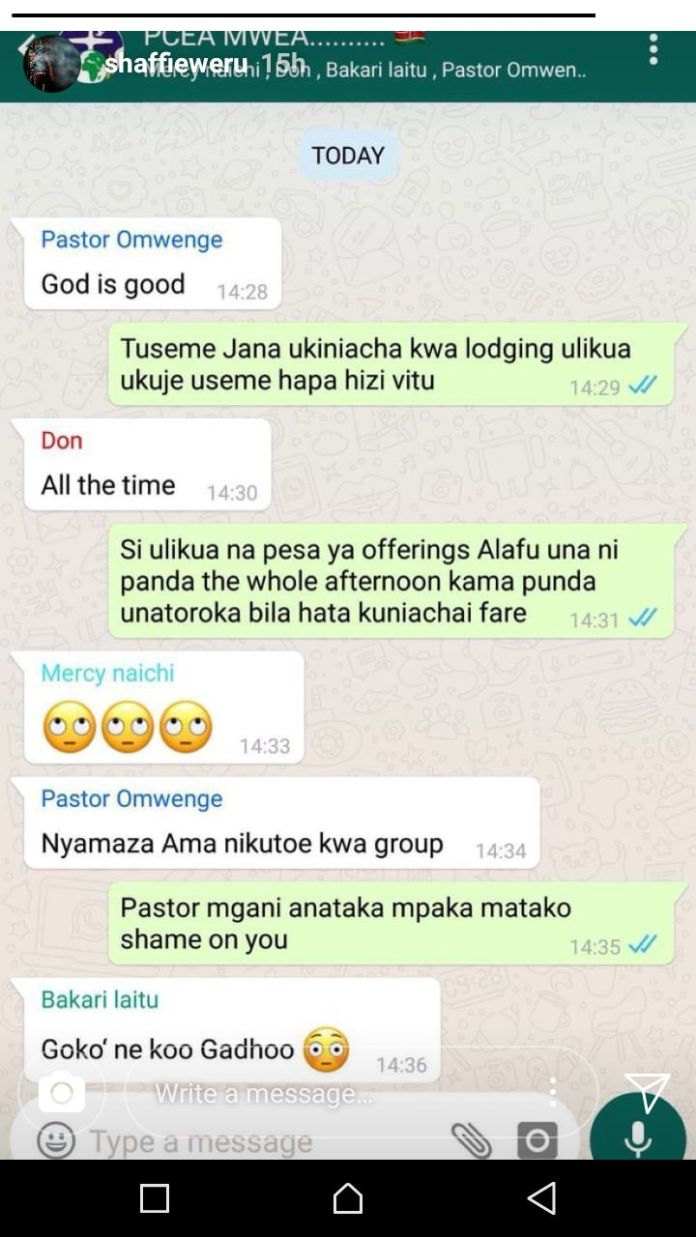 Pastor Whatapp Group chat
