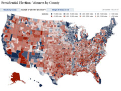 New York Times Election Map Shows America As Nearly All Blue The Washington Post has a county by county results map that looks a lot  like the map from 2004  although there is clearly a little more blue this  year and