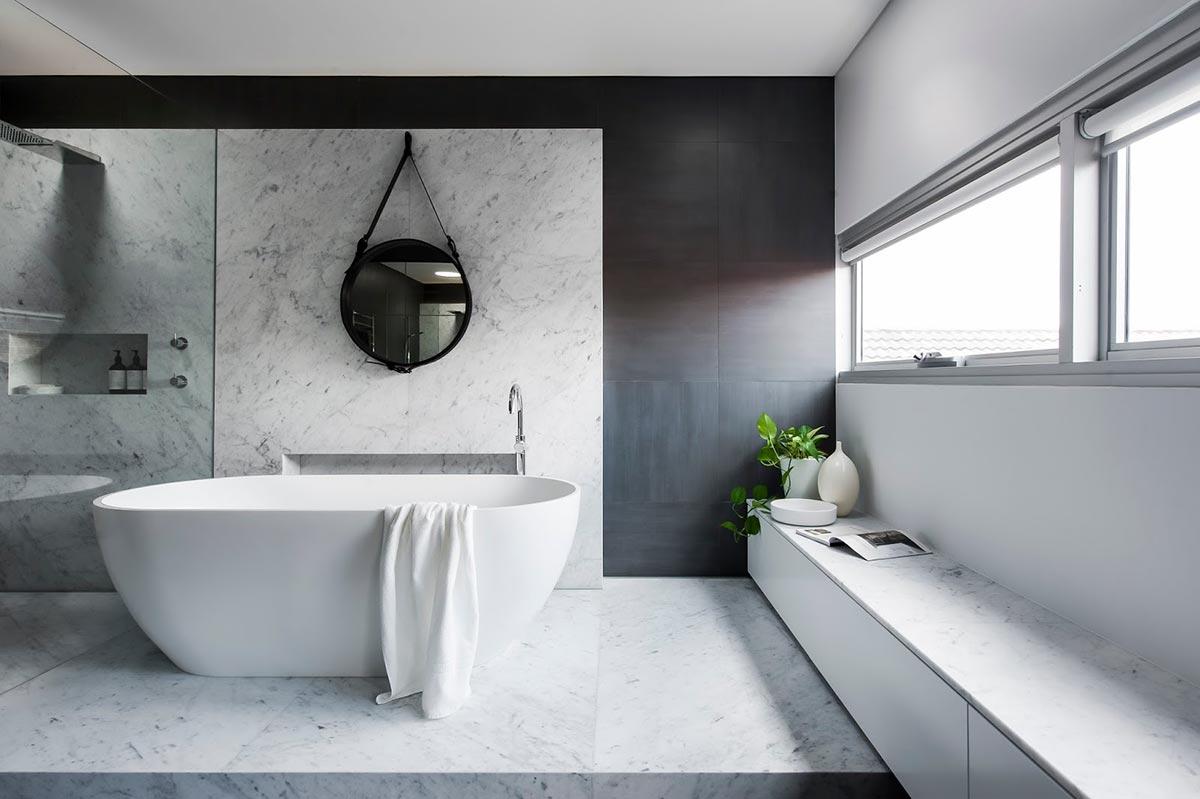 Award-winning monochromatic Bathroom by Minosa Design on Monochromatic Bathroom Ideas  id=19703