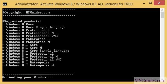 Product Windows 8 Key