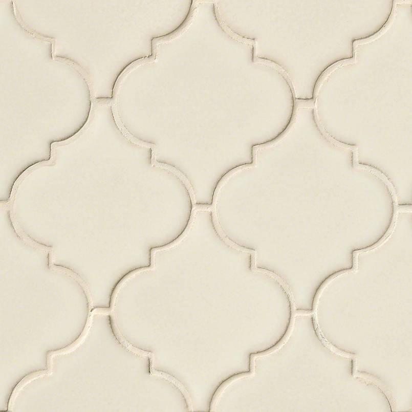 antique white arabesque subway tile