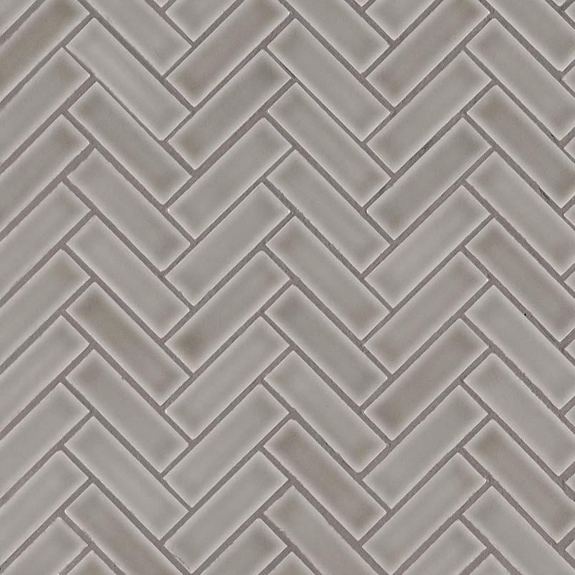 dove gray herringbone pattern 8mm backsplash tile subway tile