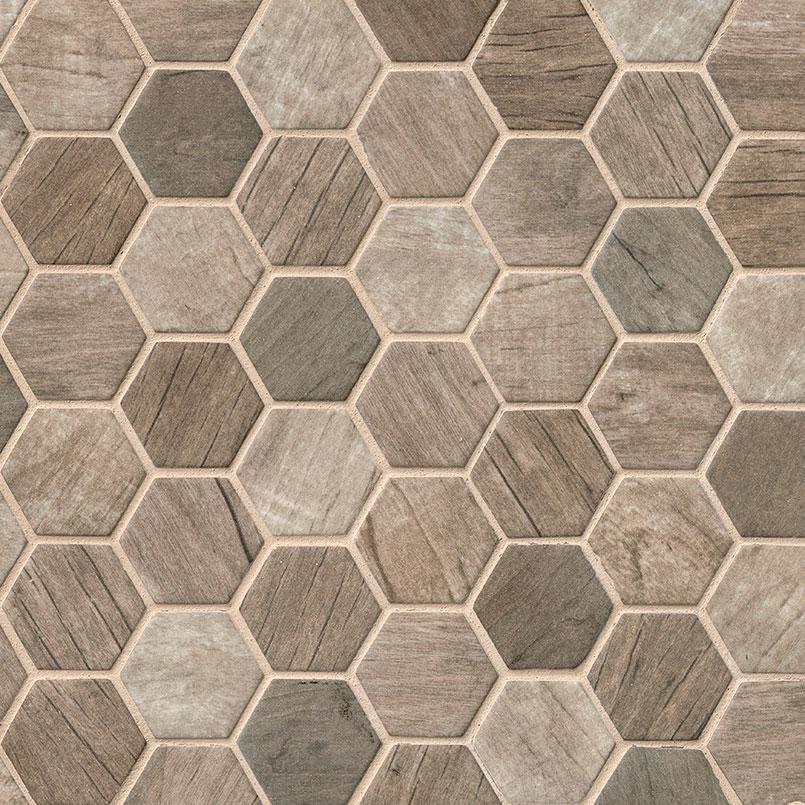 driftwood hexagon glass tile glass tile glass backsplash