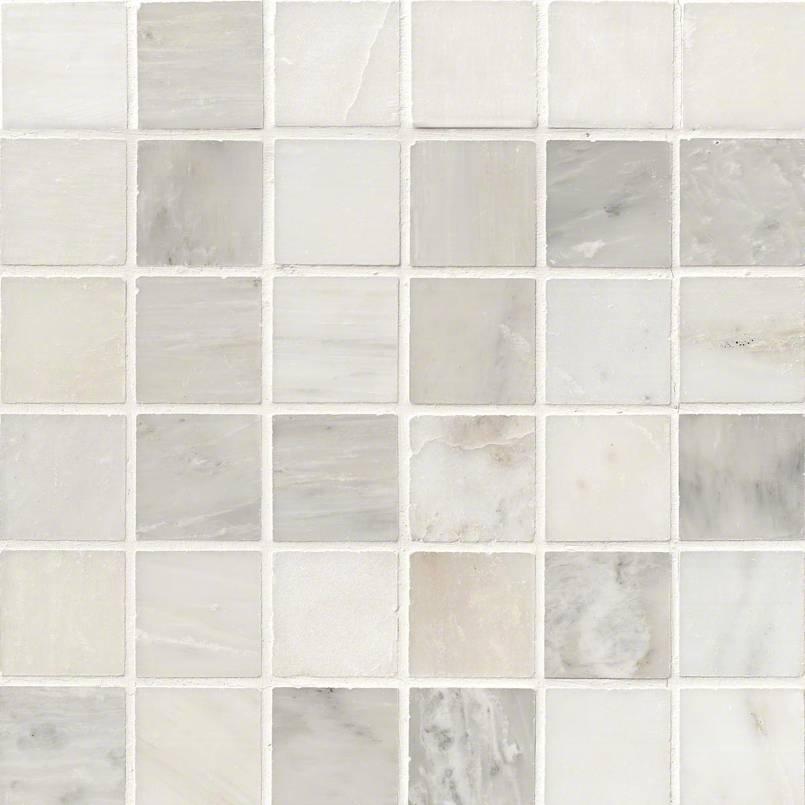 greecian white 2x2 polished in 12x12