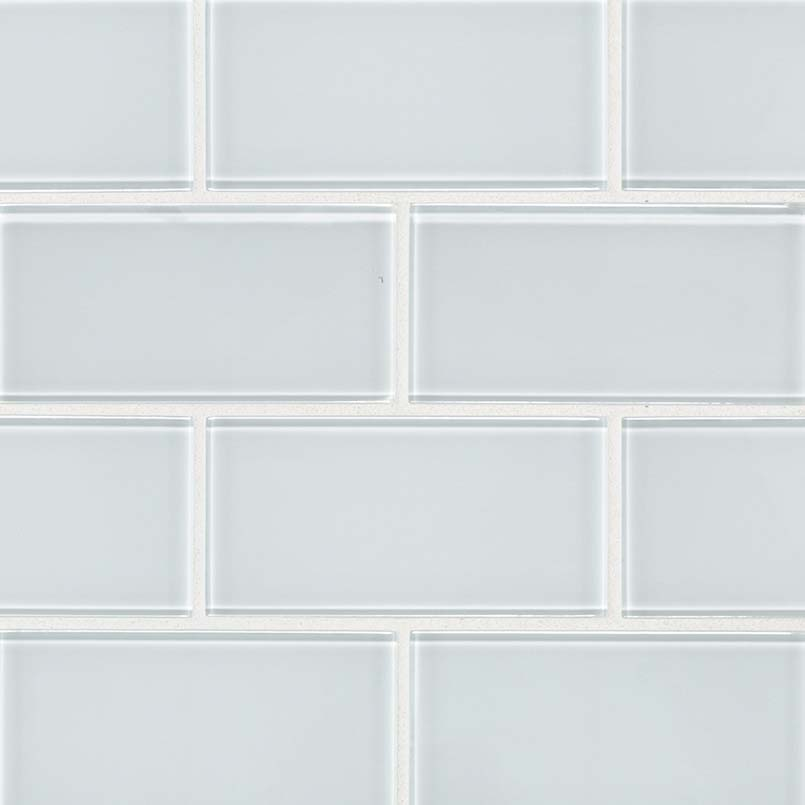 ice 3x6 subway tile mosaic tile glass backsplash tile