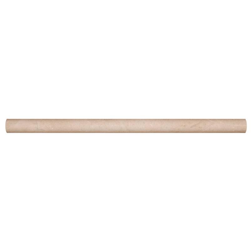 ivory travertine honed pencil molding