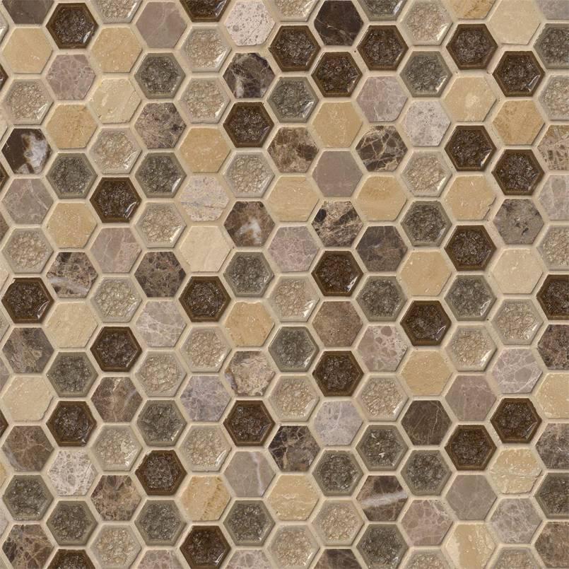 kensington hexagon tile backsplash