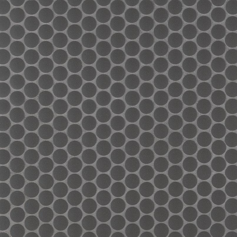 penny round nero matte glass blend tile backsplash wall tile