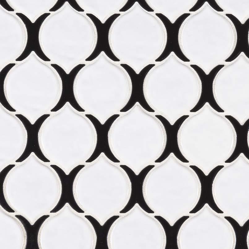 teardrop tuxe porcelain glass blend tile backsplash wall tile