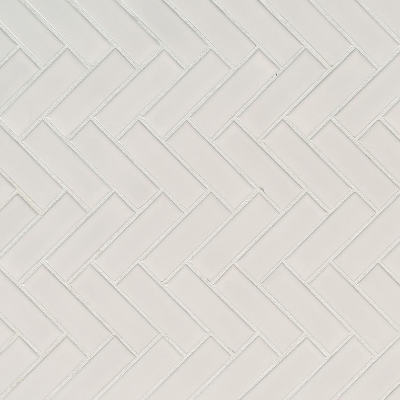white glossy herringbone mosaic tile porcelain backsplash tile