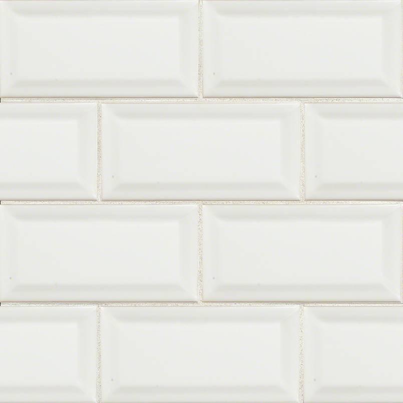 white subway tile beveled subway tile