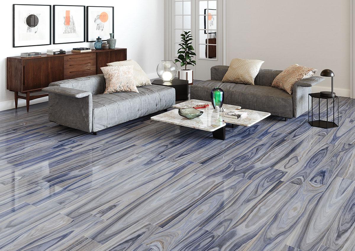 delano exotic blue wood look tile