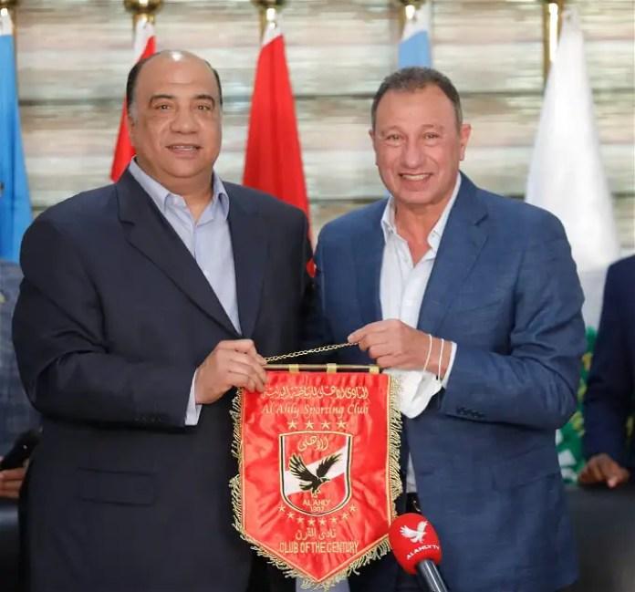 Details of Mahmoud Al-Khatib's visit to Al-Ittihad Club ... Alexandria Farhana with Al-Ahly president