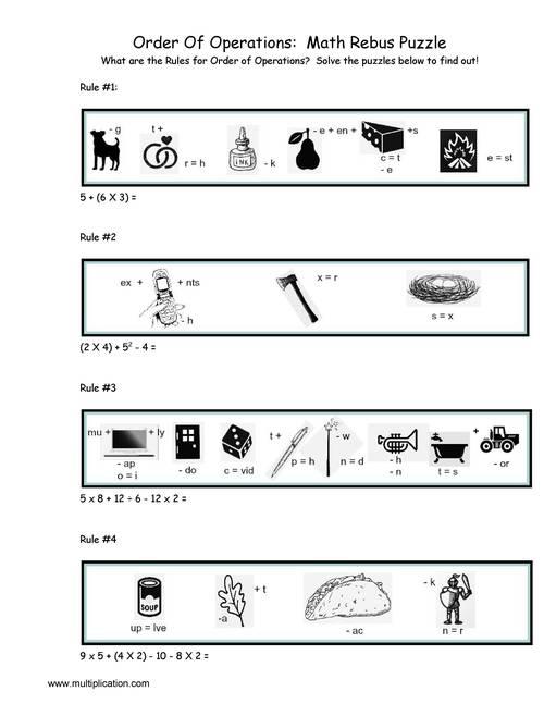 Rebus Pictogram Puzzles Worksheet