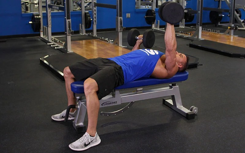 Alternate Dumbbell Bench Press High Start Video