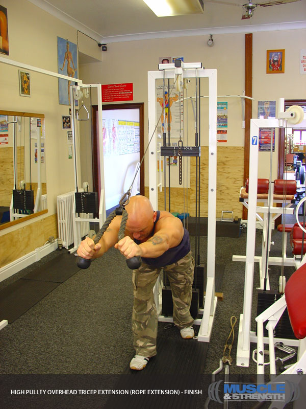 High Pulley Overhead Tricep Extension Rope Extension