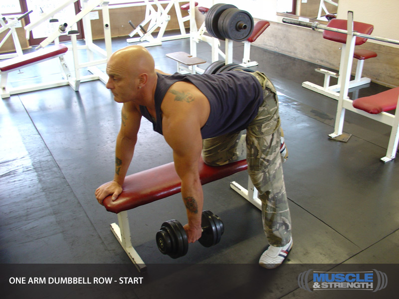 One Arm Dumbbell Row Video Exercise Guide Amp Tips