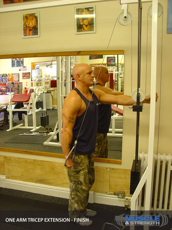 One Arm Cable Tricep Extension Video Exercise Guide Amp Tips