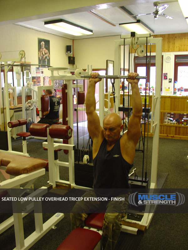 Seated Low Pulley Overhead Tricep Extension Video