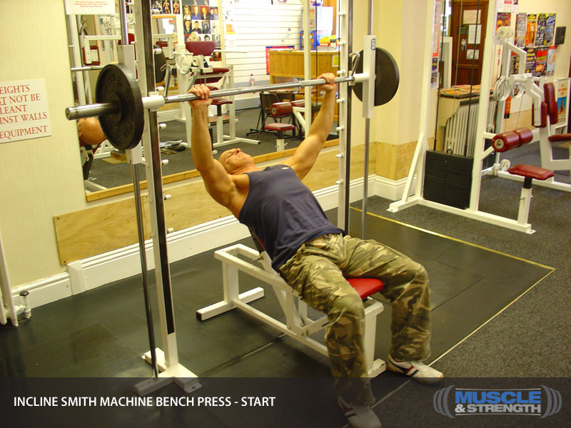 Incline Smith Machine Bench Press Video Exercise Guide Amp Tips