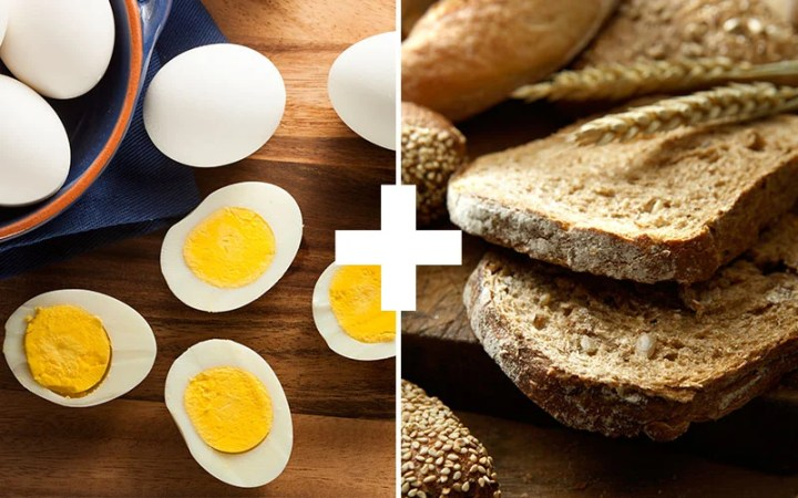 Eggs And Whole Grain Bread High Protein