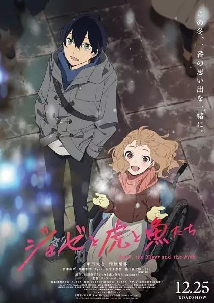 Anime Romance Rating Tinggi Josee, the Tiger and the Fish