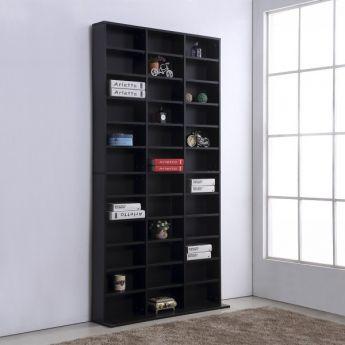 etagere rangement cd dvd france noire meuble de rangement pour 1116 cds noir mycocooning