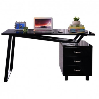 finest simple bureau design noir brillant avec tiroirs de rangement with bureau design noir with bureau simple design