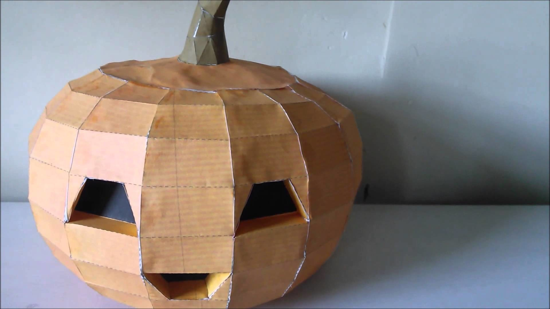 Build Your Own Jack O Lantern Pumpkin Papercraft