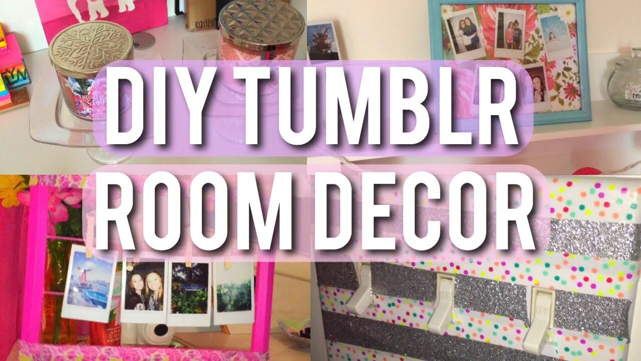 DIY Cute and Tumblr Room Decor!! on Room Decor Tumblr id=39908