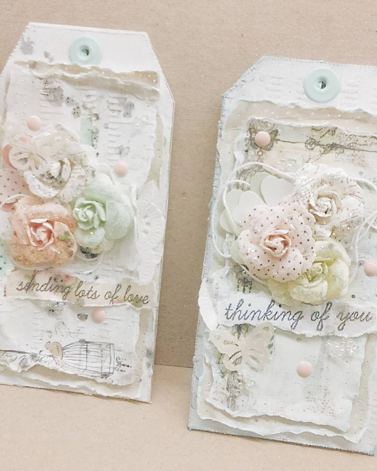 If you like to see how much soap you have left in a soap container, then leave the soap dispenser clear and add a chic floral embellishment. Easy Shabby Chic Tag Tutorial And Upcoming Ustream Class