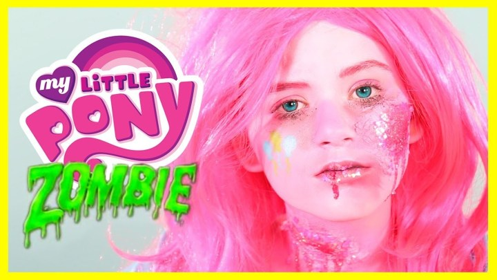 Zombie My Little Pony Pinkie Pie Makeup Tutorial Equestria Doll