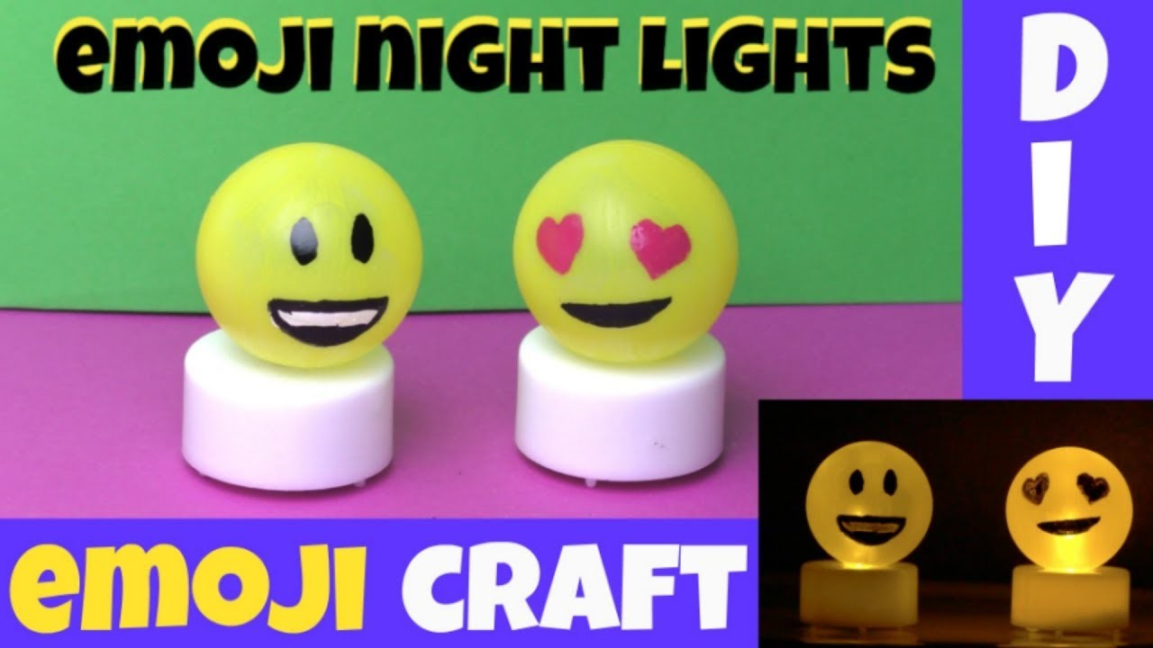 Small artist round sponge (to smooth edges) How To Make An Emoji Night Light Diy Emoji Crafts For Kids