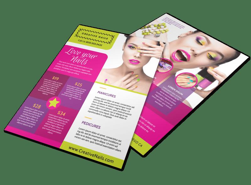 nail salon flyer template mycreativeshop