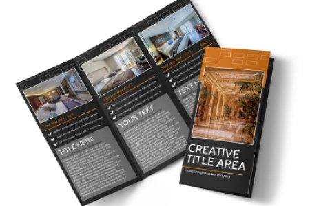 Brochure Templates   MyCreativeShop Only The Best Hotels Tri Fold Brochure Template