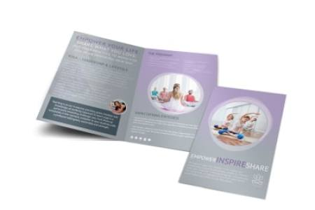 Design Custom Yoga Brochures Online   MyCreativeShop Yoga Teacher Training Bi Fold Brochure Template
