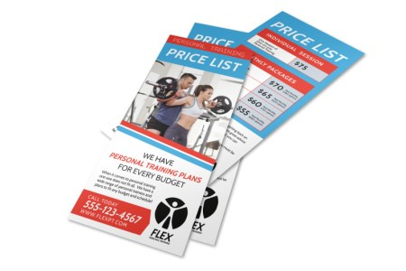 Personal Trainer Pricing Plans Flyer Template   MyCreativeShop Personal Trainer Pricing Plans Flyer Template