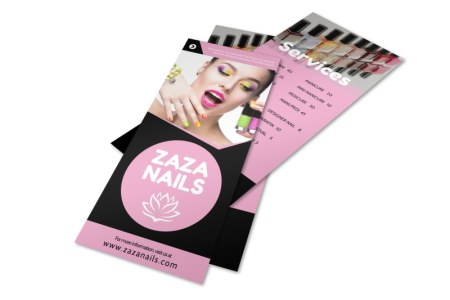 Nail Salon Price List Flyer Template   MyCreativeShop Nail Salon Price List Flyer Template