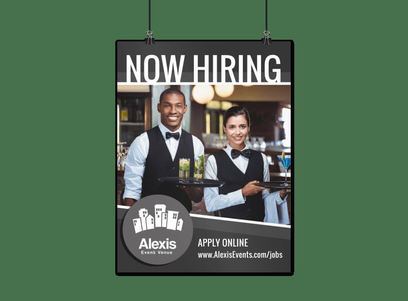 now hiring poster template mycreativeshop