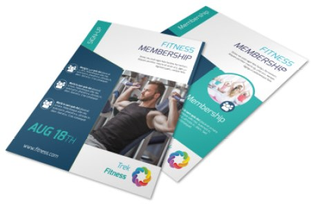 Fitness Membership Flyer Template   MyCreativeShop