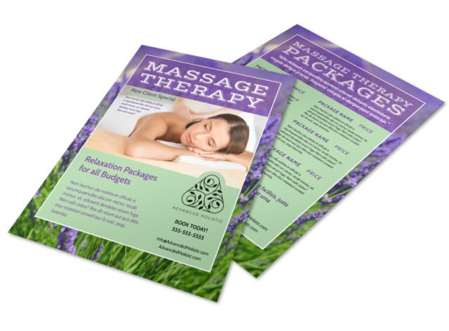 massage therapy flyer - free download