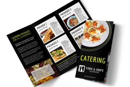 Event Catering Flyer Template Event Catering Tri Fold Brochure Template