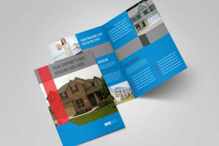 Residential Real Estate Brochure Template   MyCreativeShop Real Estate Home for Sale Bi Fold Brochure Template 2