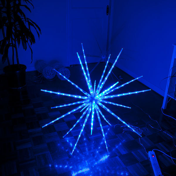 160 Led Blast Ice Star Ball Christmas Light Decoration Blue 122cm Diameter Buy Outdoor Christmas Decorations 636160184979