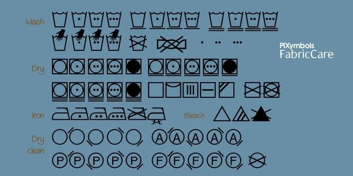 washing symbols fonts myfonts