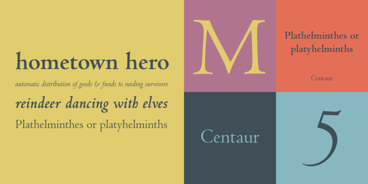 FULL Centaur font complete family pack download – Download
